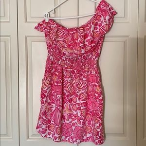 Lilly Pulitzer one shoulder pink Jessy dress